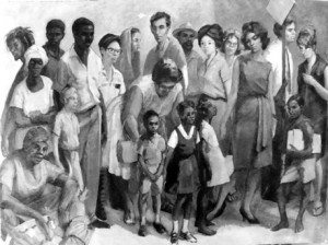 'Out of Many, One People' done in 1962 by master painter Barrington Watson