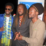 """ERROL """"SHAKKA"""" DAWES PHOTO: Blue Mountain Music Festival slated for February 22-23, 2014 launches at Listen Mi Caribbean and Telegans, 3 South Odeon Avenue, Kingston, on January 28th, 2014. Event slated for Holywell. In the photo are from left Craigy T, Roshaun Clarke, Jesse Royal who all participated at the launch."""